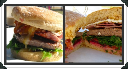 various burger angles